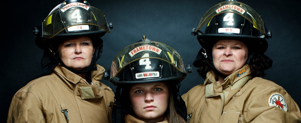 portrait of Frametown Firefighters
