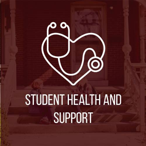 Student Health and Support button
